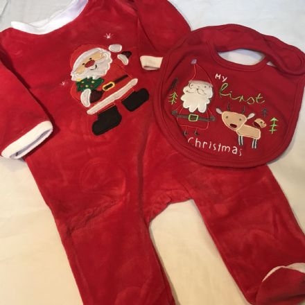 3-6 Month Santa Sleepsuit